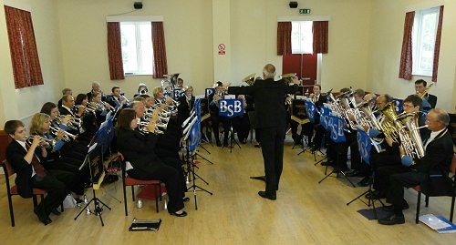 Members of Bilsdale Silver Band and The Shepherd Group Concert Band join forces!
