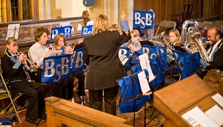 Bilsdale Junior Band playing at the 2008 Ryedale Festival (photo courtesy of Steve Hailey)